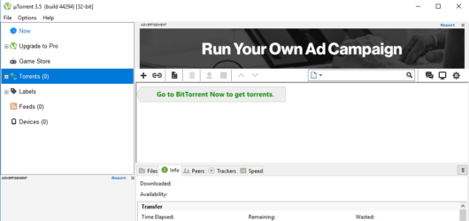 µTorrent Screenshot 2