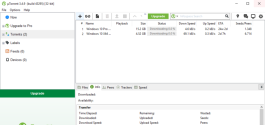 µTorrent Screenshot 1