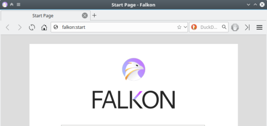 Falkon Browser Screenshot 1