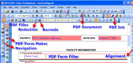 PDFill PDF Editor Screenshot 1
