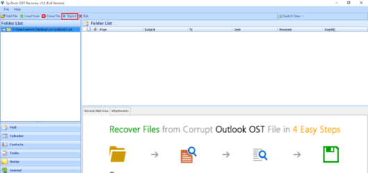 SysTools OST Recovery Screenshot 1