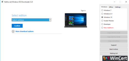 Microsoft Windows and Office ISO Download Tool Screenshot 1