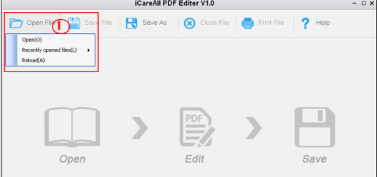 iCareAll PDF Editor Screenshot 1