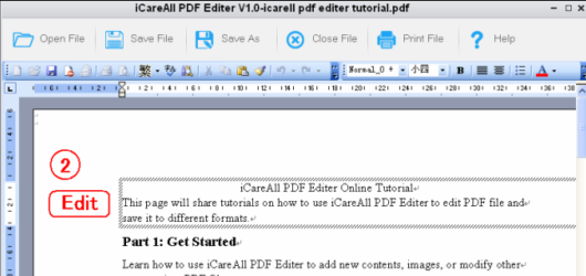 iCareAll PDF Editor Screenshot 2