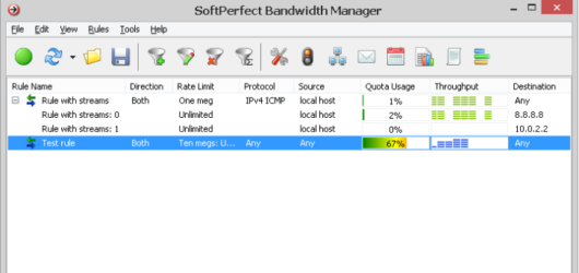 SoftPerfect Bandwidth Manager Screenshot 1