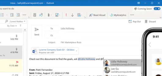 Microsoft Outlook Screenshot 1