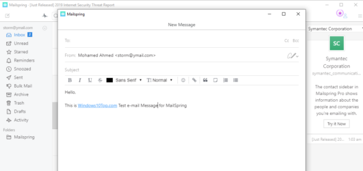 Mailspring Screenshot 2