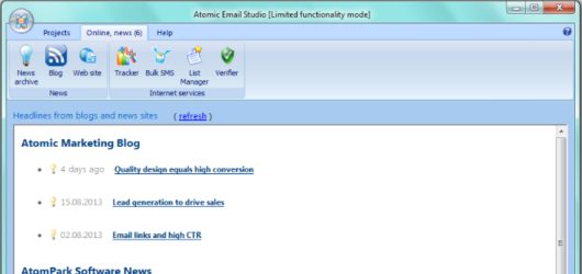 Atomic Email Studio Screenshot 3