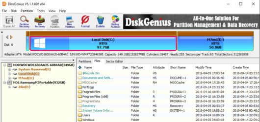 DiskGenius Screenshot 1