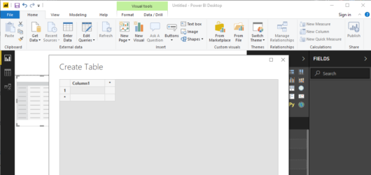 Power BI Desktop Screenshot 1
