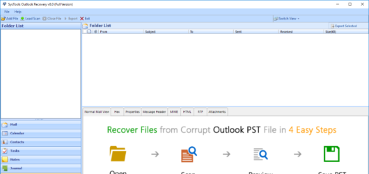SysTools Outlook Recovery Tool Screenshot 1