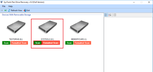 SysTools USB Recovery Tool Screenshot 1