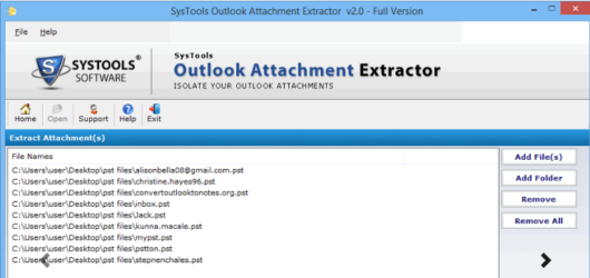 SysTools Outlook Attachment Extractor Screenshot 3